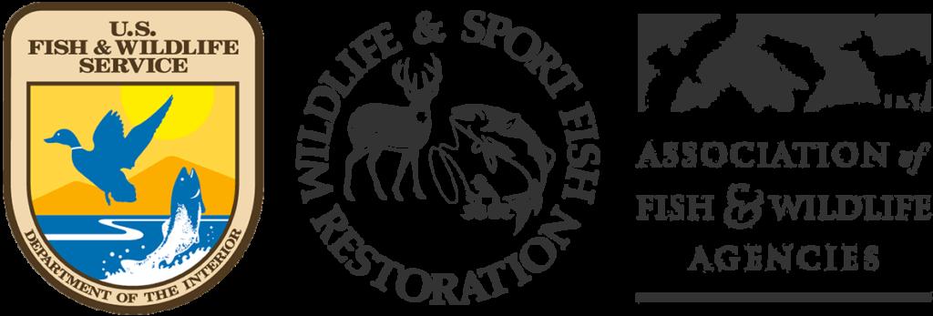 USFWS, WSFR, and AFWA logos