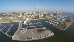 Aerial view of Corpus Christi Marina