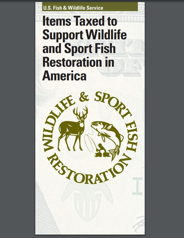Cover image of Wildlife and Sport Fish Restoration brochure for taxed items