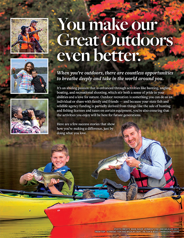 Cover image of Wildlife and Sport Fish Restoration Program Great Ourtoors brochure